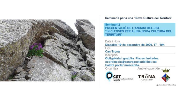 Segon seminari per a una Nova Cultura del Territori: presentació de l'Anuari 2020 del CST